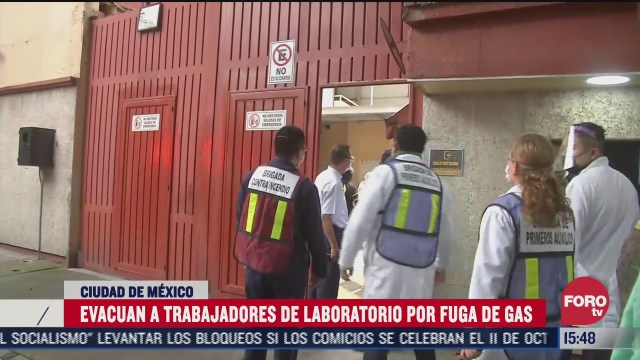 se registra fuga de gas en laboratorio de colonia portales