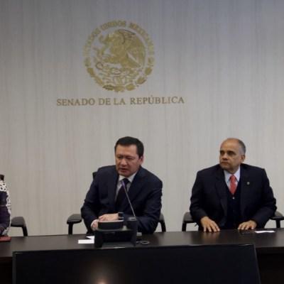 Senadores del PRI, PAN y PRD respaldan a Osorio Chong tras nota aclaratoria de la UIF