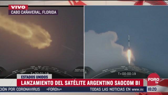 space x pone en orbita satelite argentino