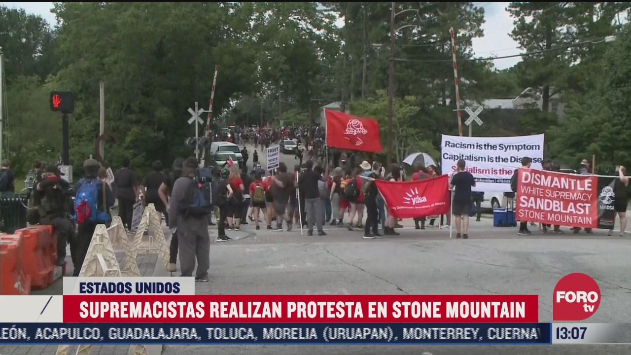 supremacistas blancos protestan en georgia