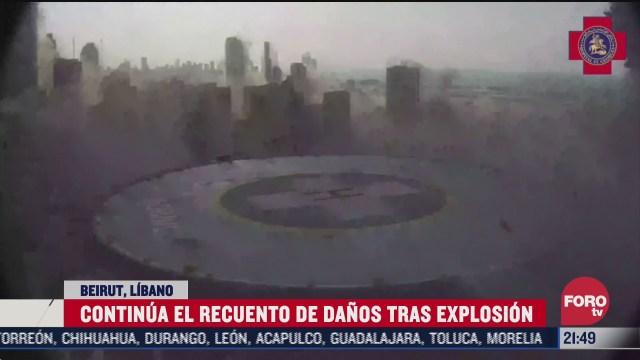 nuevos videos de la explosion en beirut libano