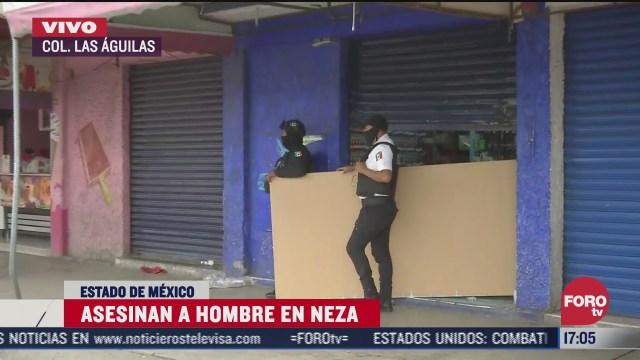 tras rina asesinan a hombre en un mercado de nezahualcoyotl