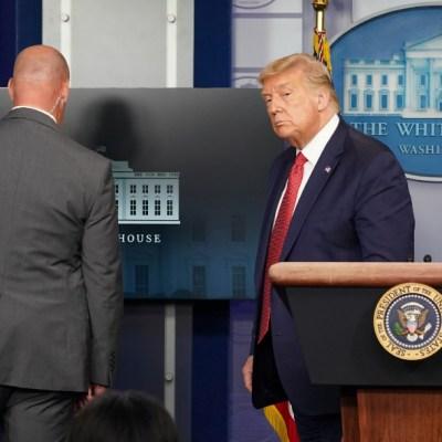 Trump termina abruptamente conferencia por instrucciones del Servicio Secreto