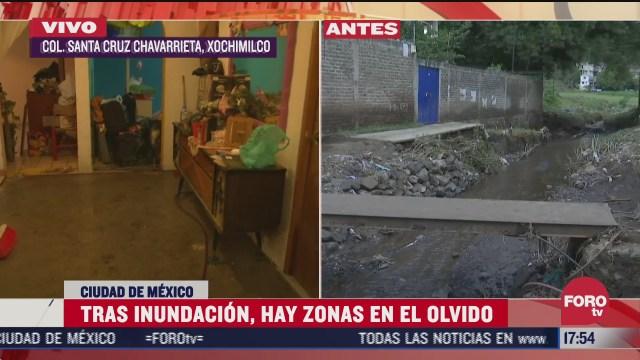 vecinos de santa cruz chavarrieta cdmx piden ayuda tras afectaciones por lluvia