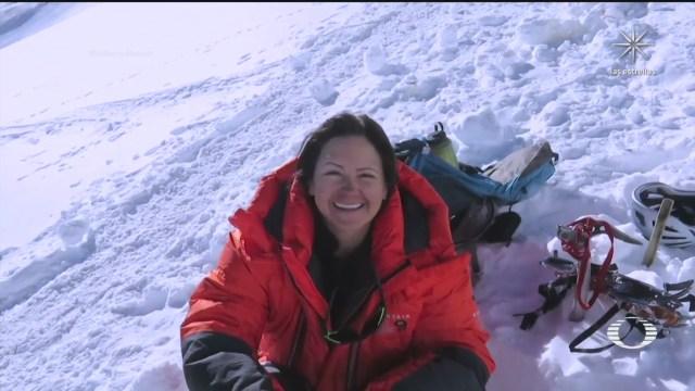 Viridiana Álvarez, la alpinista mexicana que obtuvo el récord Guinness que escalo el Monte Everest, el K2 y la Kanchenjung