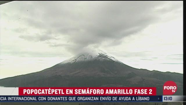 volcan popocatepetl amanece nevado