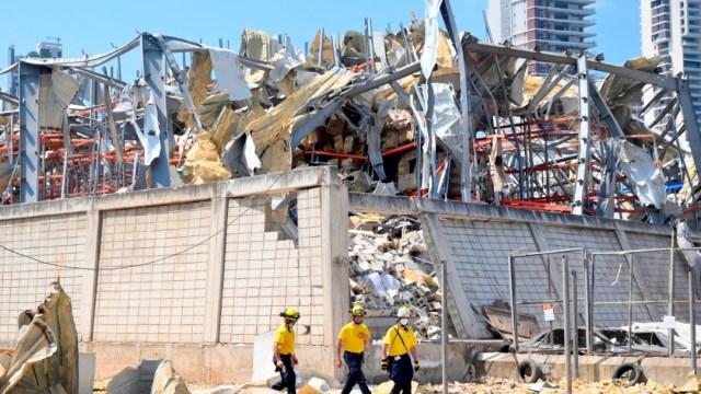 zona de la explosión en Beirut, libano