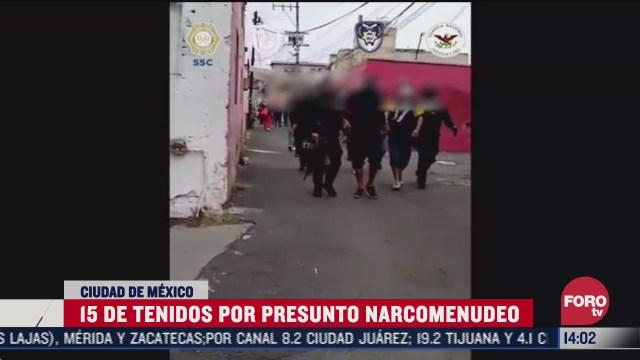 15 detenidos tras cateos antinarco en cdmx