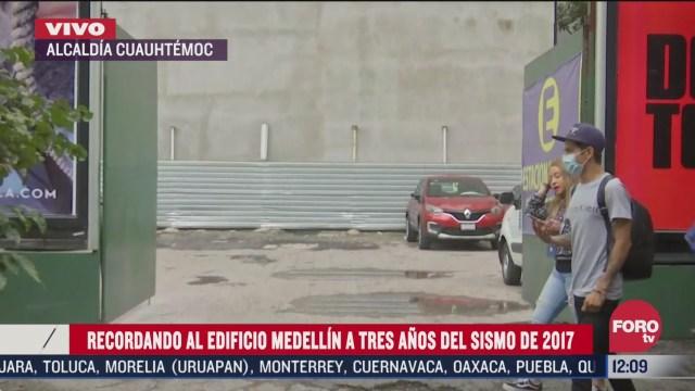 Terreno donde se encontraba el edificio Medellín es ahora un estacionamiento