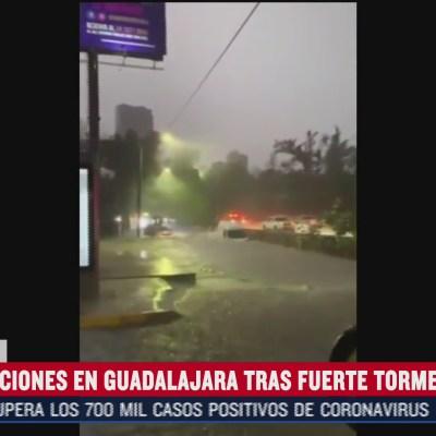 Agua sube 40 centímetros tras tormenta en Guadalajara