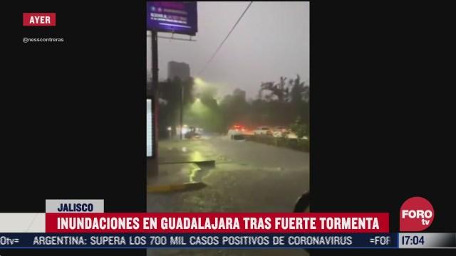 agua sube 40 centimetros tras tormenta en guadalajara