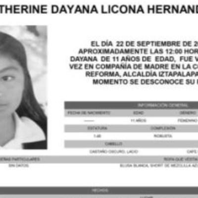 Activan Alerta Amber para localizar a KatherineDayana Licona Hernández