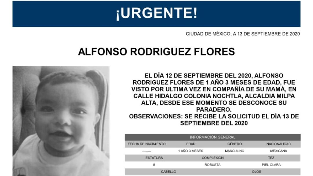 Activan Alerta Amber para localizar a Alfonso Rodríguez Flores