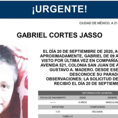 Activan Alerta Amber para localizar a Gabriel Cortes Jasso
