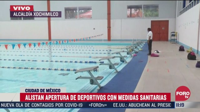 alistan apertura de deportivos con medidas sanitarias en xochimilco cdmx
