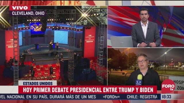 alistan detalles para primer debate entre trump y biden