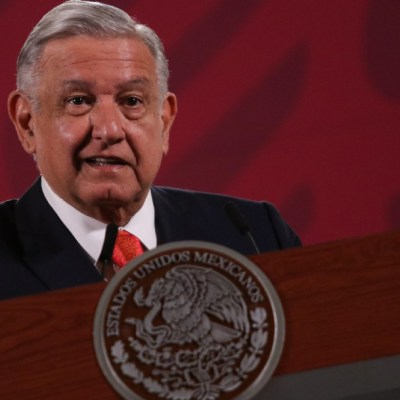 El presidente Andrés Manuel López Obrador durante la conferencia.