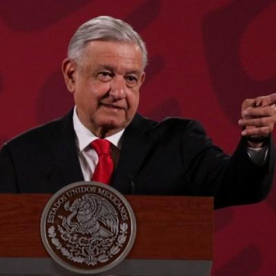 Andrés Manuel López Obrador, presidente de México, durante su conferencia matutina en Palacio Nacional