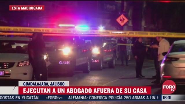 asesinan a abogado en guadalajara