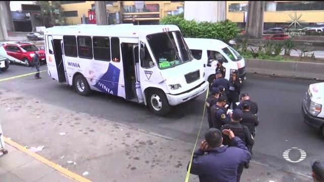 Matan a chofer de transporte público en Naucalpan