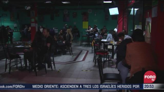 bares cambian de giro para dar servicio como restaurantes en cdmx