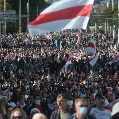 Más de 440 detenidos en Bielorrusia en protesta contra Lukashenko