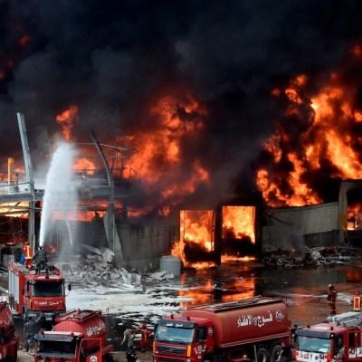 Fotos y videos: Pánico en Beirut por nuevo incendio