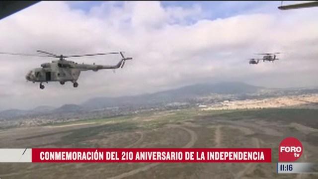 camara exclusiva de forotv sigue ruta de helicopteros que participan en desfile militar