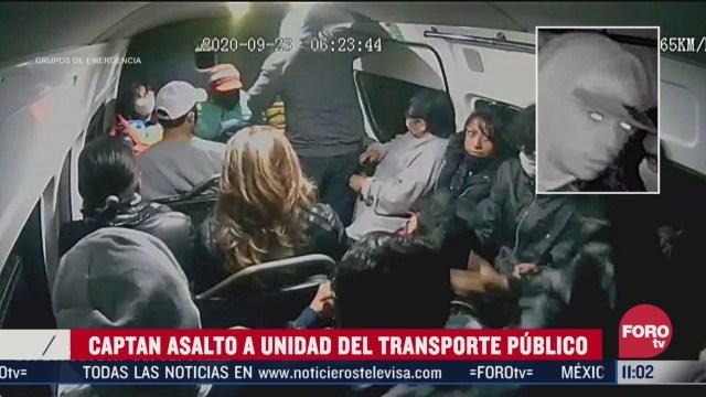 captan asalto a unidad del transporte publico en los reyes la paz