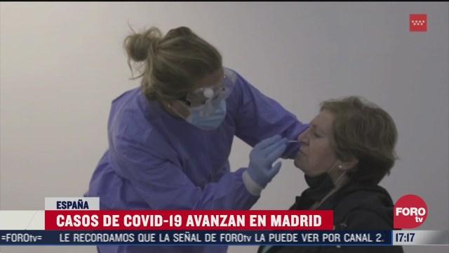 casos de covid 19 avanzan en madrid entre disputas politicas