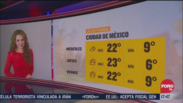 clima de la tarde del 29 de septiembre del 2020 con mayte carranco