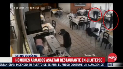 con armas largas se roban caja registradora de restaurante