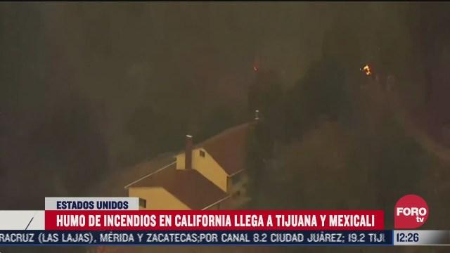 contaminacion por incendios en california llega a mexico