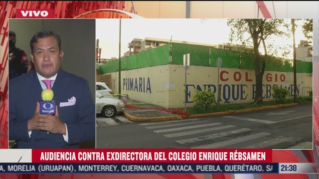 Audiencia contra exdirectora de Colegio Enrique Rébsamen