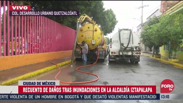 continuan las afectaciones en cdmx tras fuerte lluvia