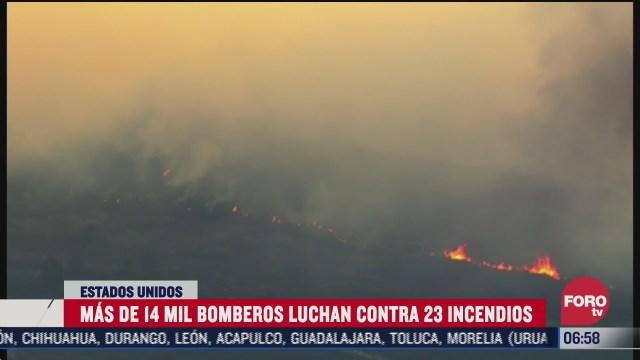 continuan los incendios forestales en california estados unidos