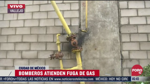 controlan fuga de gas en vallejo cdmx