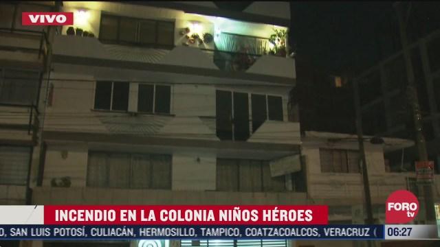 controlan incendio en departamento de la colonia ninos heroes en cdmx