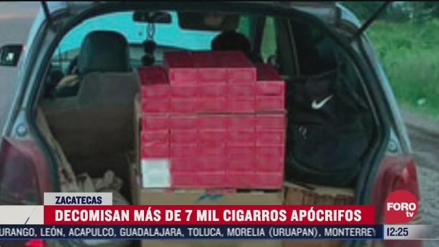 decomisan mas de 7 mil cigarros apocrifos en zacatecas