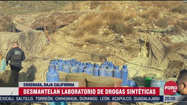 desmantelan laboratorio de drogas en baja california