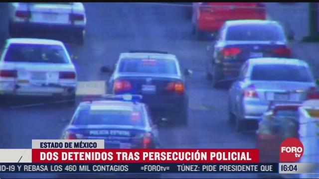 detienen a dos presuntos delincuentes tras persecucion en edomex