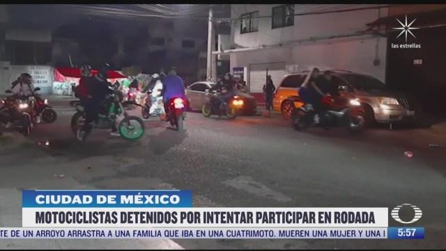 detienen a motociclistas que pretendian participar en rodada nocturna en cdmx