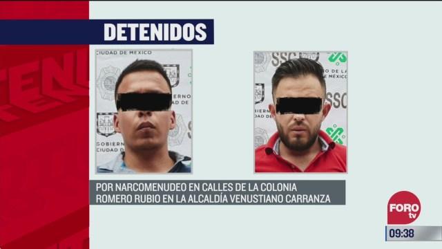 detienen en cdmx a dos colombianos ligados al sistema gota a gota