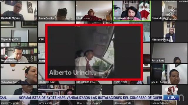 diputado de morena va manejando durante sesion virtual del congreso de cdmx