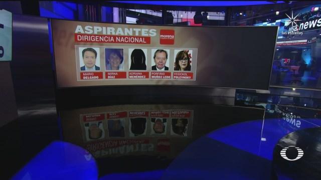dirigencia nacional de morena se disputara entre cinco candidatos