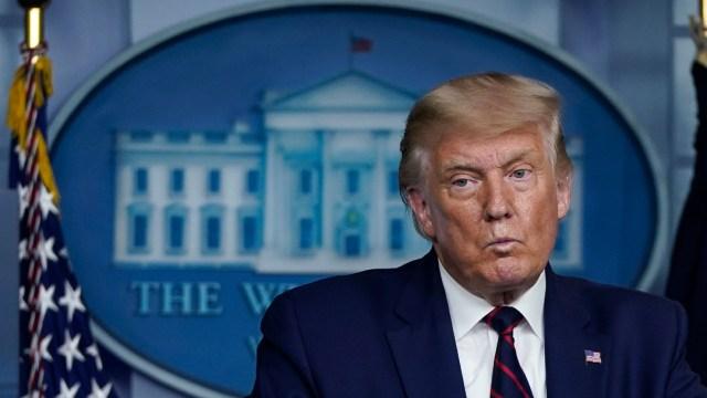 Donald Trump en conferencia de presan en la Casa Blanca