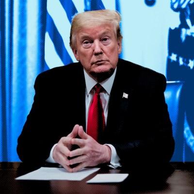 Donald Trump en conferencia de prensa en la Casa Blanca