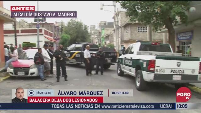 dos personas resultan heridas tras balacera en la gam