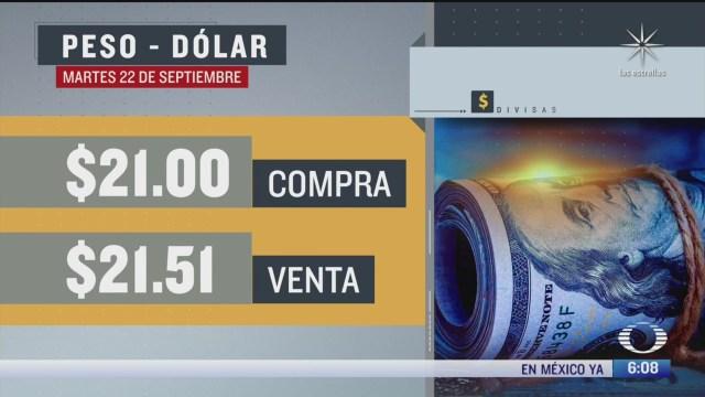 el dolar se vendio en 21 51 en la cdmx 22 septiembre