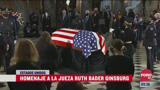 el homenaje a la jueza ruth bader ginsburg en eeuu